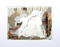 Billedkunst. Collage på papir. Unikke collagebilleder. Collage billeder.  Collage kunst af Birgitte Eriksson.