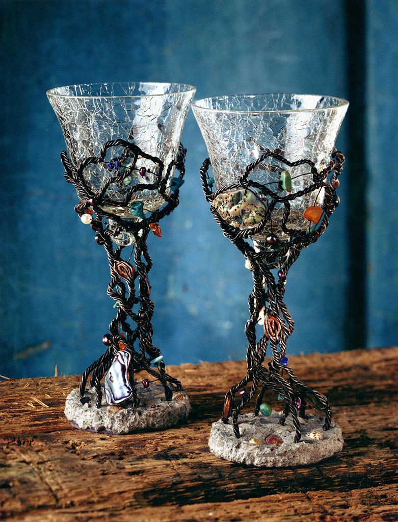 Snoet jern med glas. Unikke eventyrglas af Birgitte-Eriksson