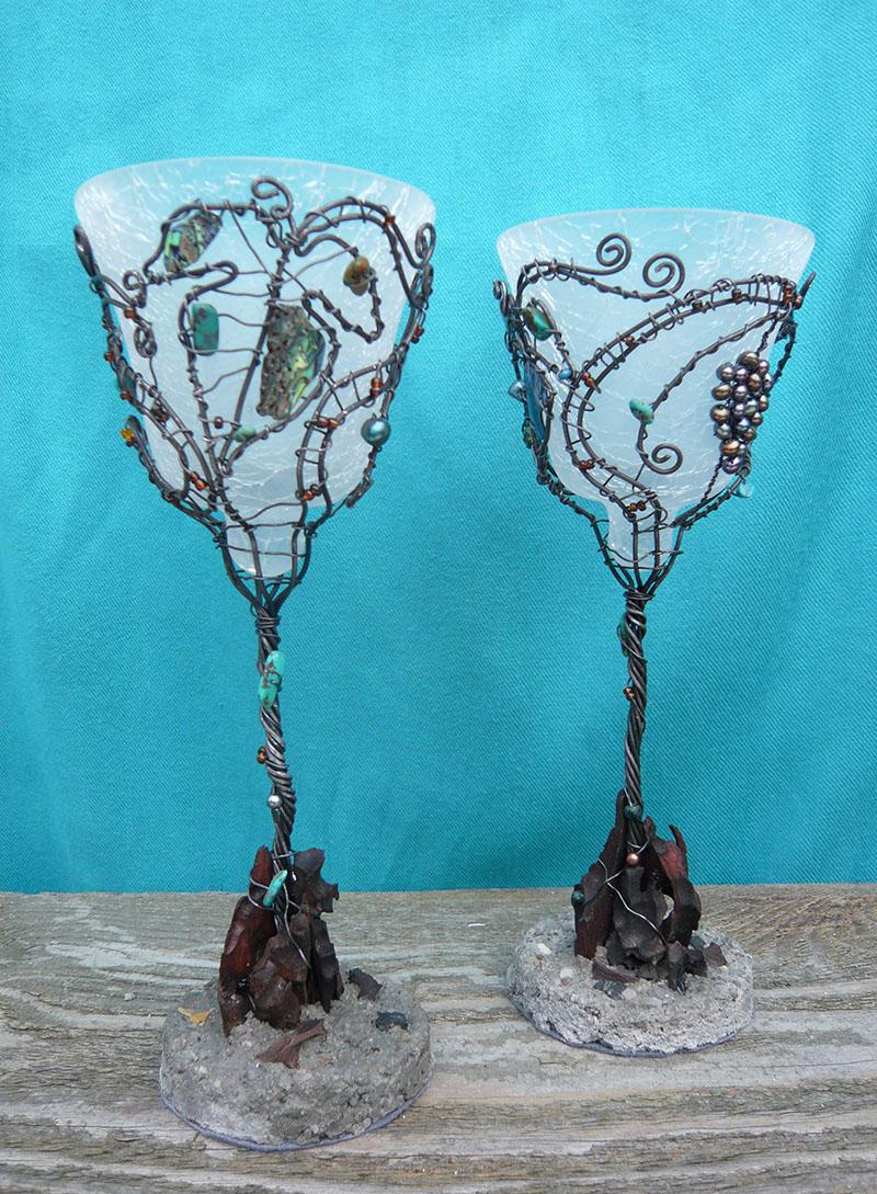 Snoet jern med glas. Unikke eventyrglas af Birgitte Eriksson